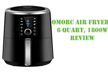 OMORC Air Fryer, 6 Quart, 1800W